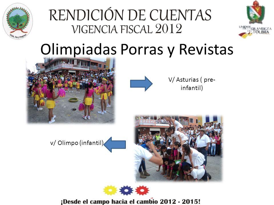 Olimpiadas Porras y Revistas V/ Asturias ( pre- infantil) v/ Olimpo (infantil)