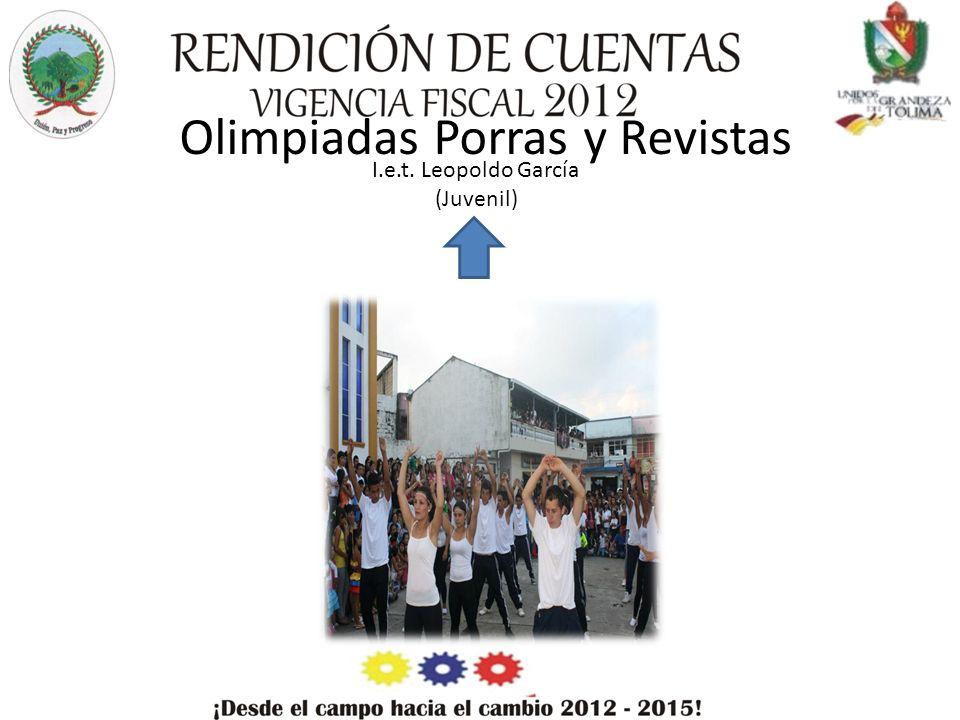 Olimpiadas Porras y Revistas I.e.t. Leopoldo García (Juvenil)