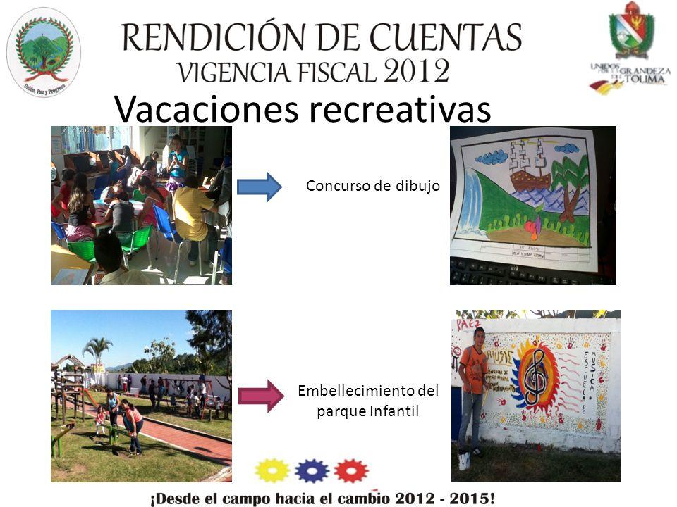Vacaciones recreativas Concurso de dibujo Embellecimiento del parque Infantil