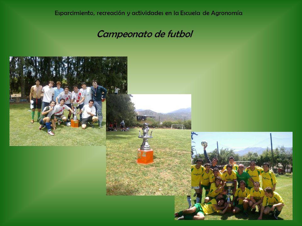Esparcimiento, recreación y actividades en la Escuela de Agronomía Campeonato de futbol