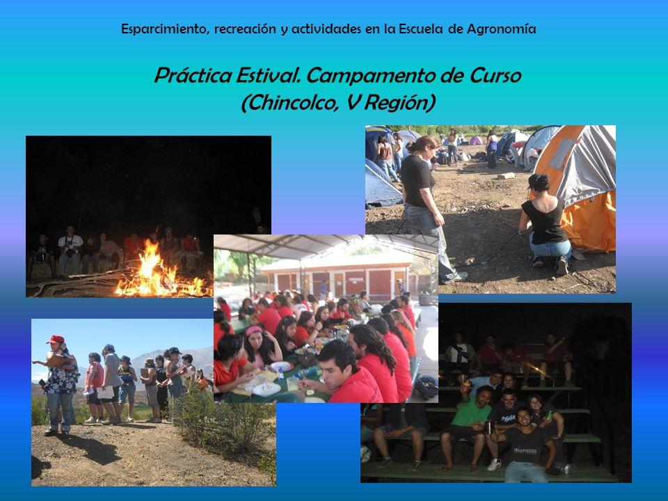 Esparcimiento, recreación y actividades en la Escuela de Agronomía Práctica Estival.