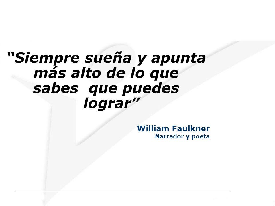 Siempre sueña y apunta más alto de lo que sabes que puedes lograr William Faulkner Narrador y poeta