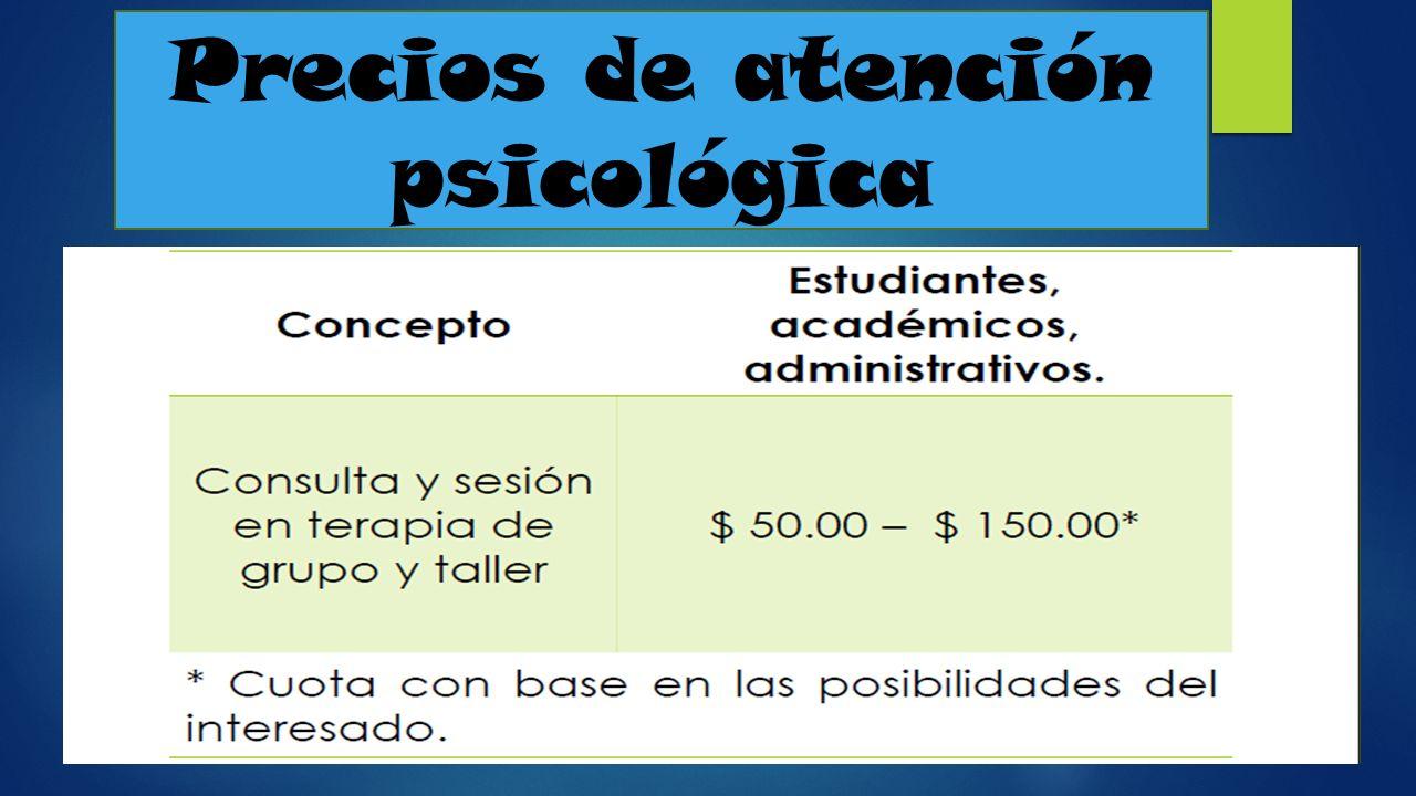 Precios de atención psicológica