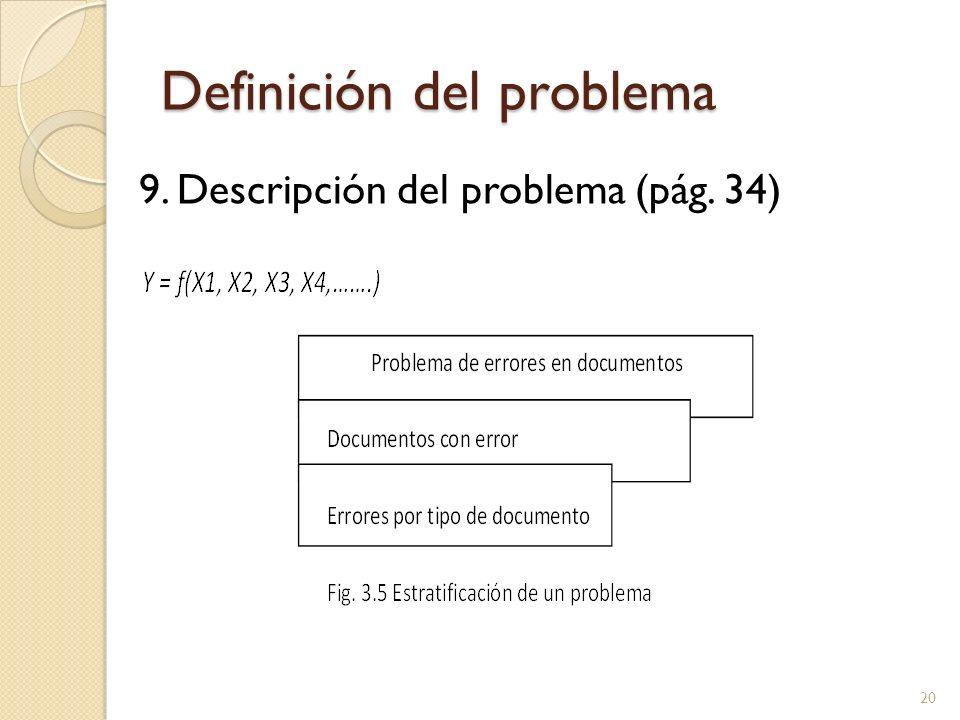 Definición del problema 9. Descripción del problema (pág. 34) 20
