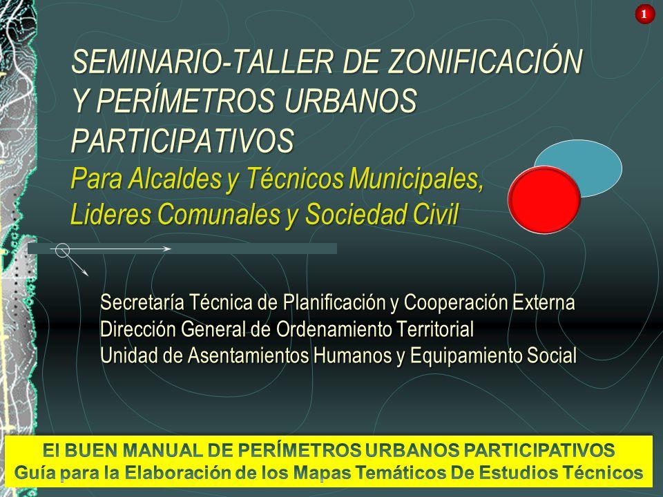 1 Secretaría Técnica de Planificación y Cooperación Externa Dirección General de Ordenamiento Territorial Unidad de Asentamientos Humanos y Equipamien