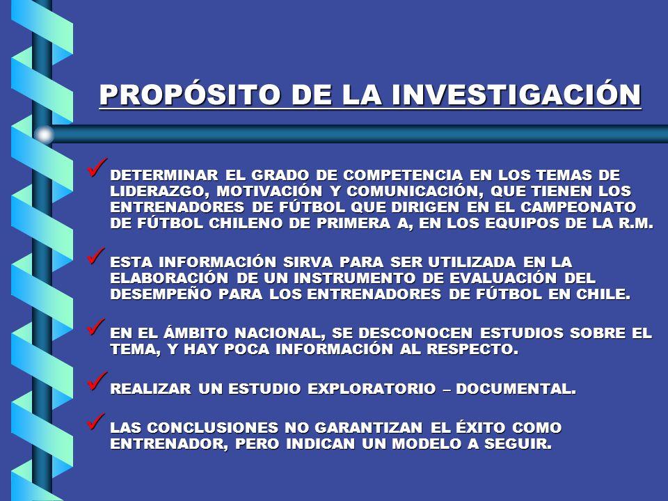 FORMULACIÓN DEL PROBLEMA DE INVESTIGACIÓN.- PROBLEMA DE INVESTIGACIÓN NO EXISTEN ESTUDIOS NI JUICIOS FUNDAMENTADOS SOBRE EL TEMA DE LAS COMPETENCIAS DE LOS ENTRENADORES DE FÚTBOL.
