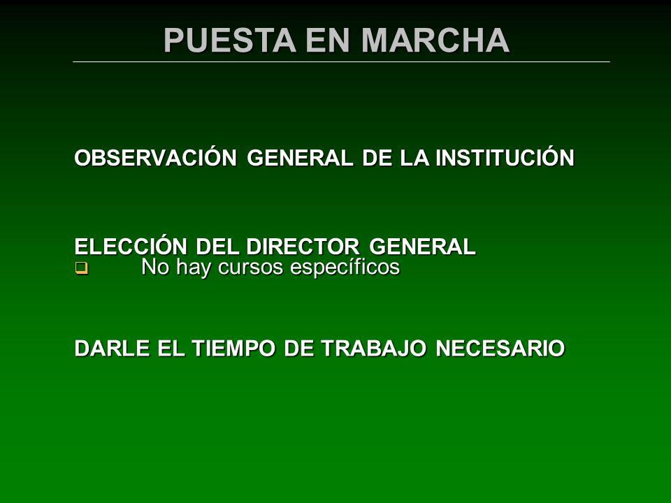 OBSERVACIÓN GENERAL DE LA INSTITUCIÓN No hay cursos específicos No hay cursos específicos ELECCIÓN DEL DIRECTOR GENERAL DARLE EL TIEMPO DE TRABAJO NEC