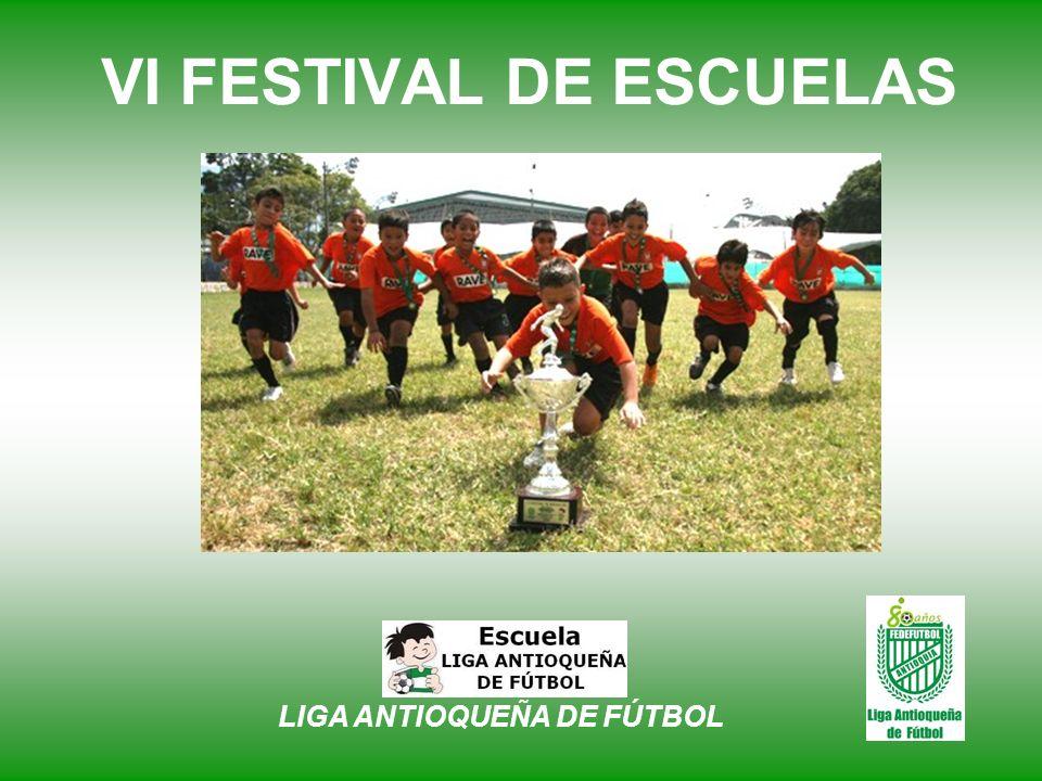 VI FESTIVAL DE ESCUELAS En la Versión 2010, nuestro Festival de Escuelas contará con encuentros deportivos en Cuatro (4) Categorías, todas ellas en la rama masculina, con diferentes características que servirán para aumentar los habituales atractivos del fútbol.