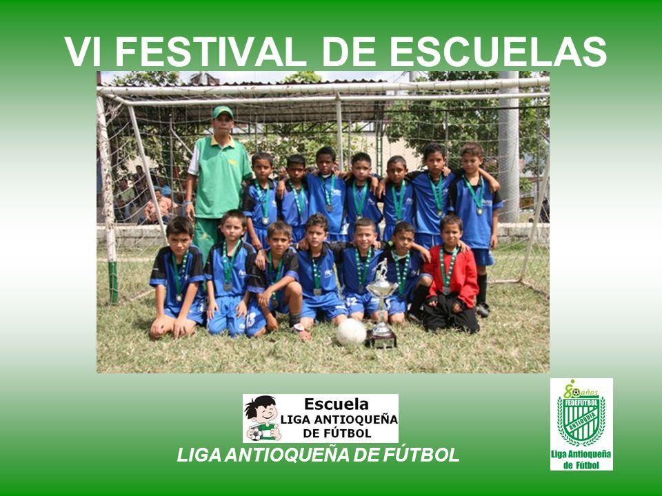 VI FESTIVAL DE ESCUELAS Alcaldía de Medellín Escuela de F.