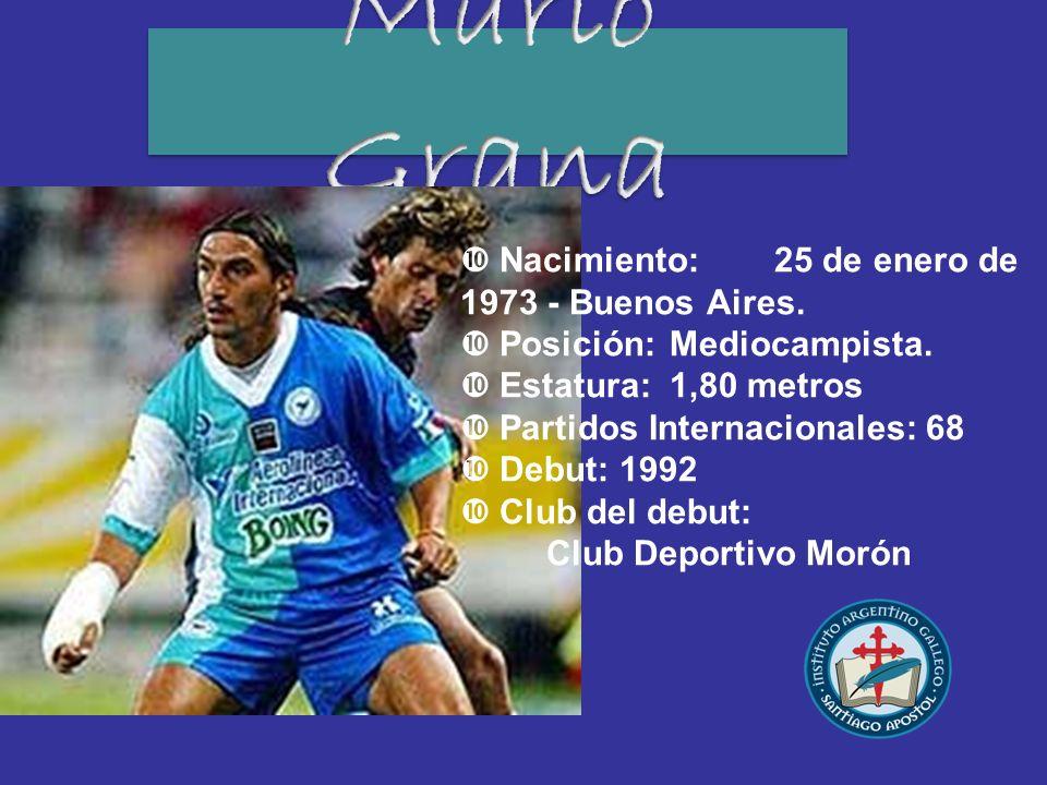Nacimiento:25 de enero de 1973 - Buenos Aires. Posición:Mediocampista. Estatura:1,80 metros Partidos Internacionales: 68 Debut: 1992 Club del debut: C