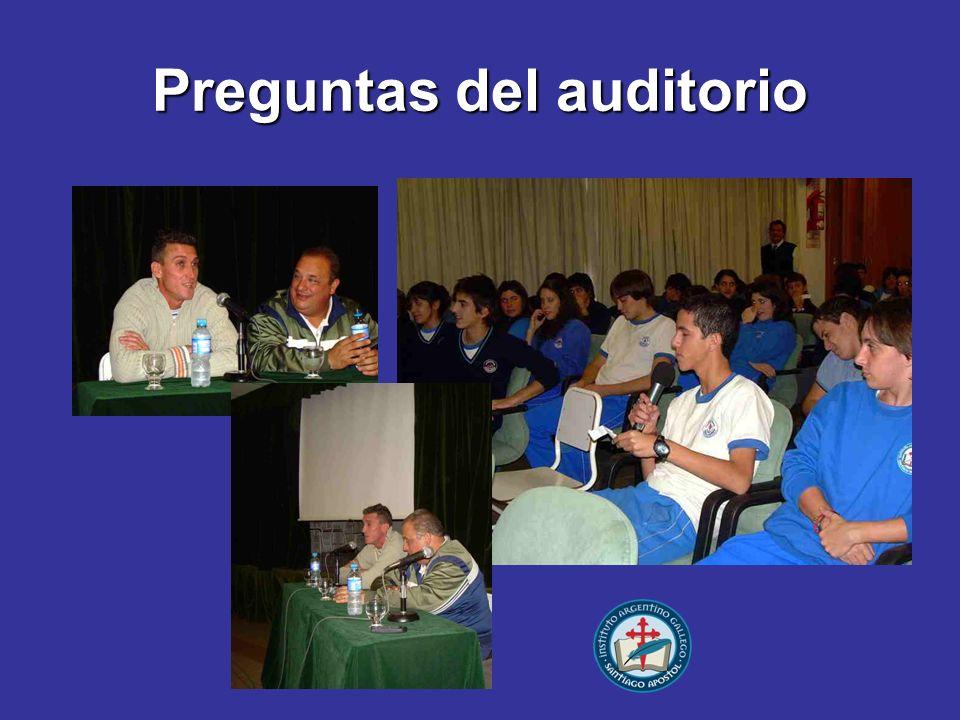 Preguntas del auditorio