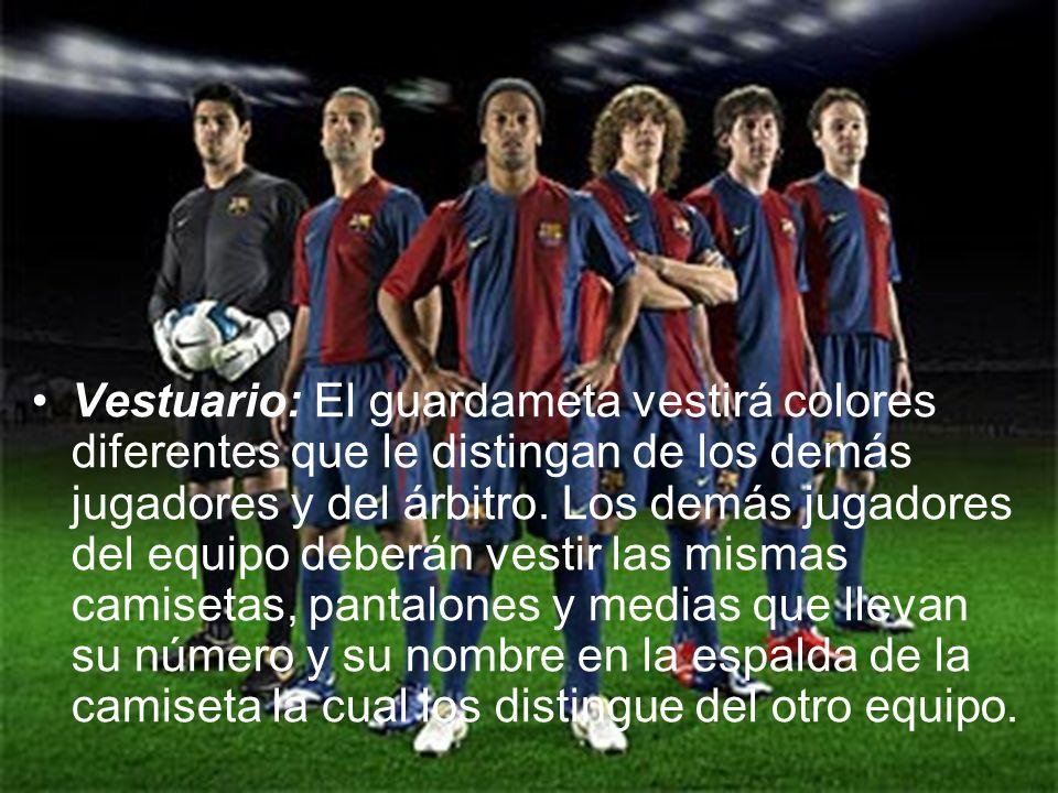 Jugadores: Cada equipo tiene un máximo de 11 jugadores, uno de los cuales es el guardameta.