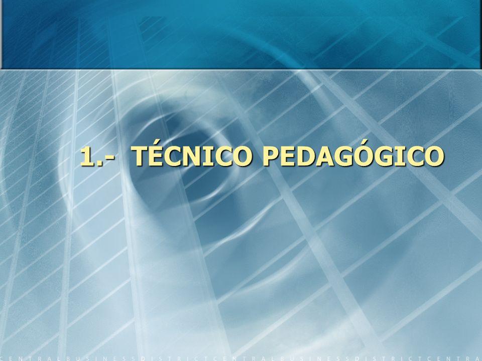 1.- TÉCNICO PEDAGÓGICO