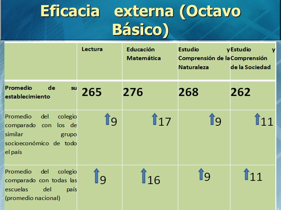 Eficacia externa (Octavo Básico)
