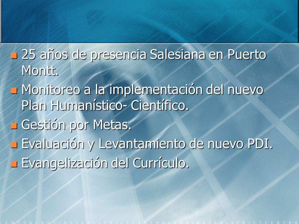 25 años de presencia Salesiana en Puerto Montt. 25 años de presencia Salesiana en Puerto Montt.