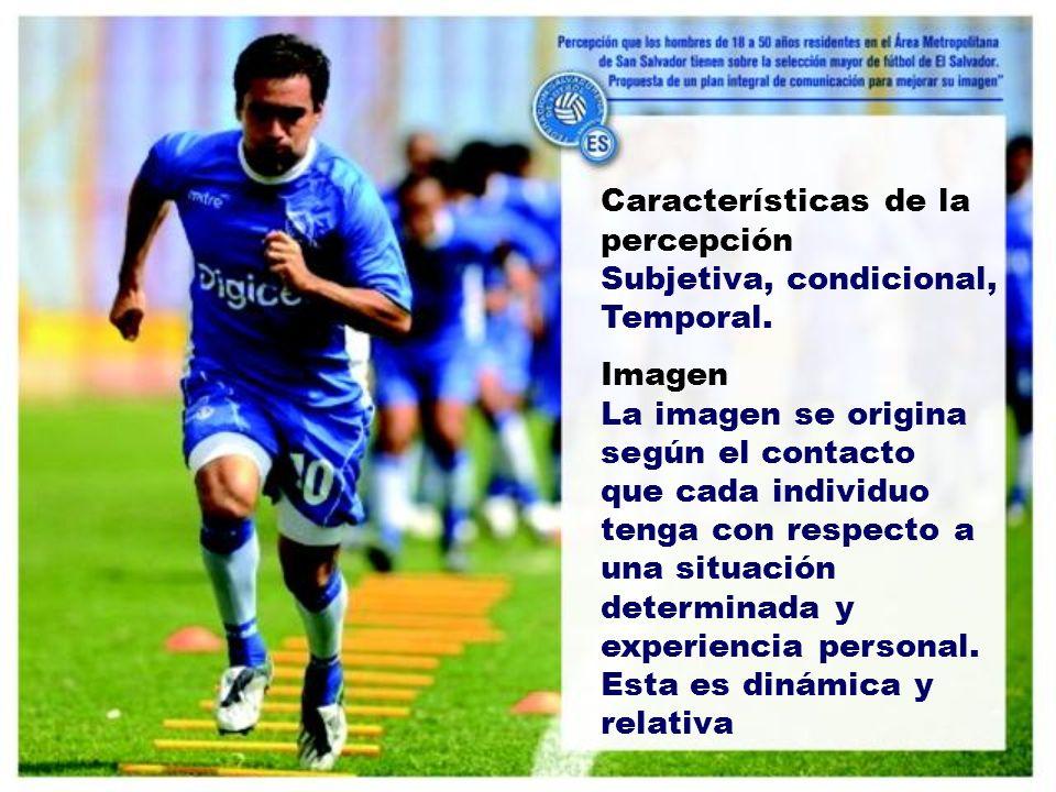 Características de la percepción Subjetiva, condicional, Temporal.