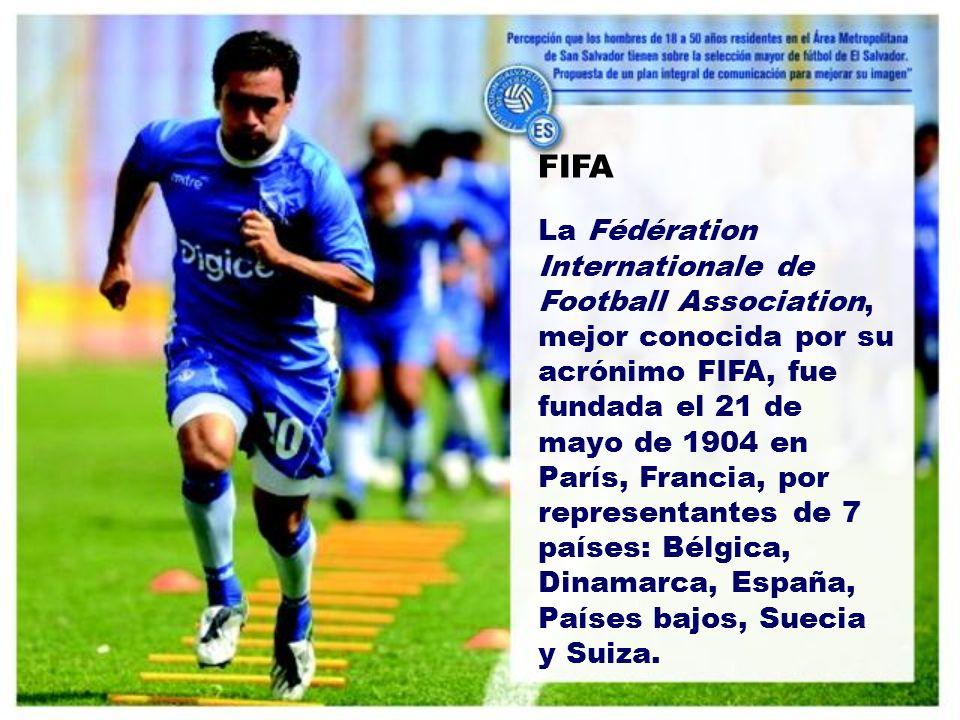 FIFA La Fédération Internationale de Football Association, mejor conocida por su acrónimo FIFA, fue fundada el 21 de mayo de 1904 en París, Francia, por representantes de 7 países: Bélgica, Dinamarca, España, Países bajos, Suecia y Suiza.