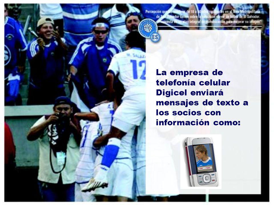 La empresa de telefonía celular Digicel enviará mensajes de texto a los socios con información como: