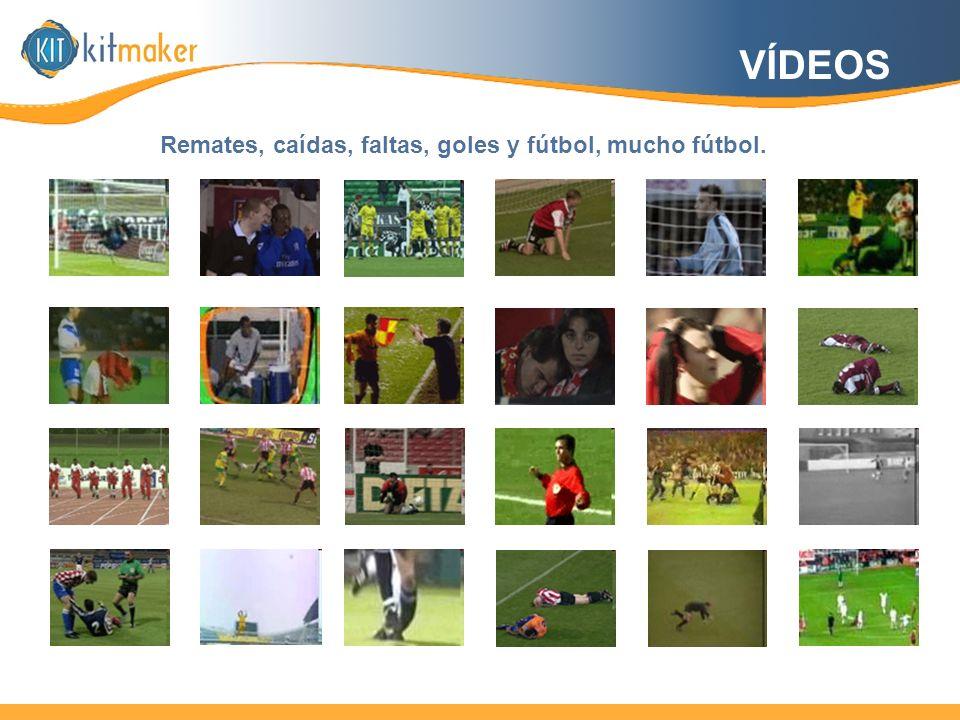 VÍDEOS Remates, caídas, faltas, goles y fútbol, mucho fútbol.