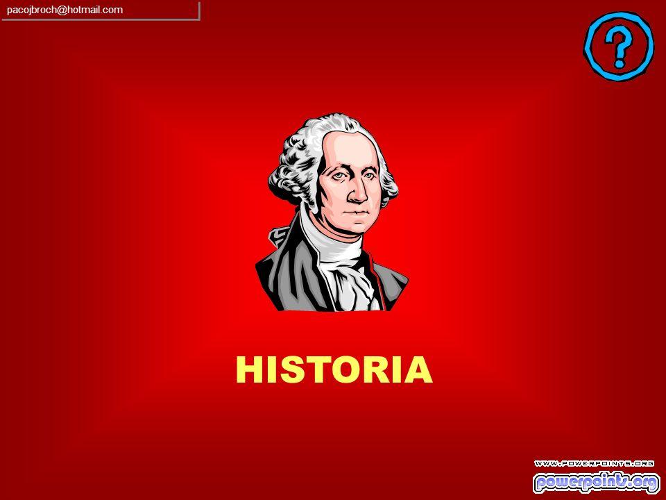 RESPUESTA INCORRECTA SON DEL 75% SUS CONOCIMIENTOS GENERALES SOBRE GEOGRAFIA pacojbroch@hotmail.com