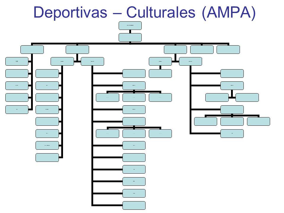 Deportivas – Culturales (AMPA) ACTIVIDAES PARAESCOLARE S DEPORTIVAS CULTURALES ED.