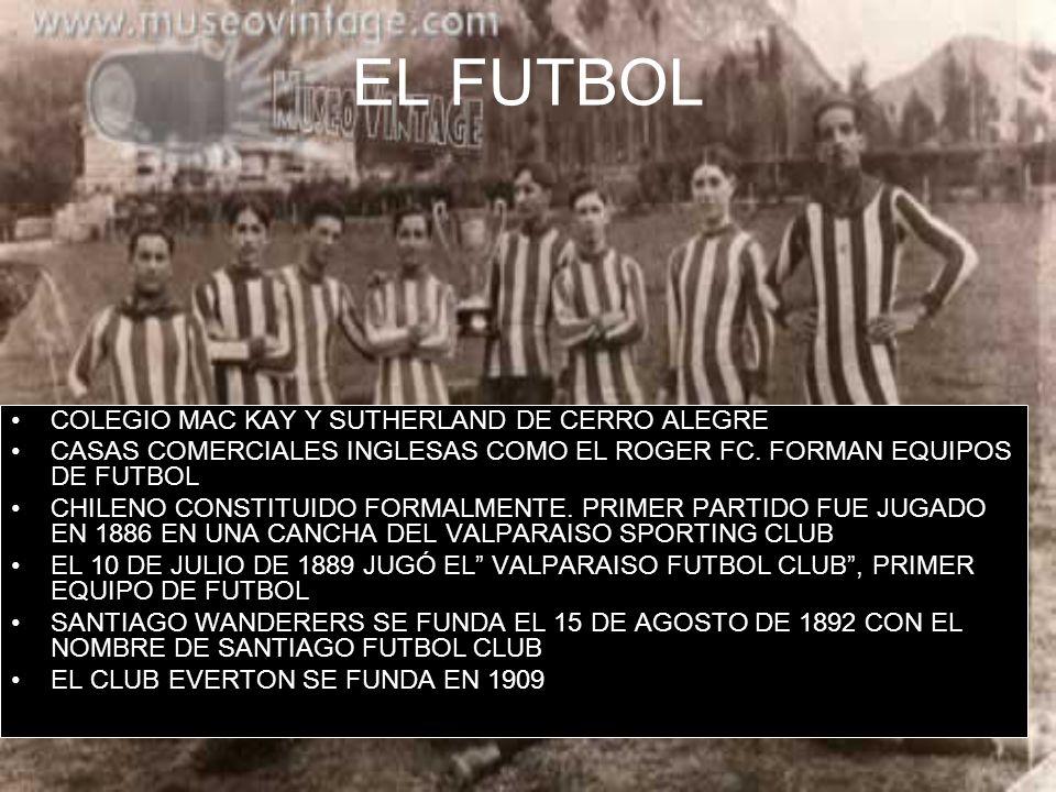 EL FUTBOL COLEGIO MAC KAY Y SUTHERLAND DE CERRO ALEGRE CASAS COMERCIALES INGLESAS COMO EL ROGER FC. FORMAN EQUIPOS DE FUTBOL CHILENO CONSTITUIDO FORMA