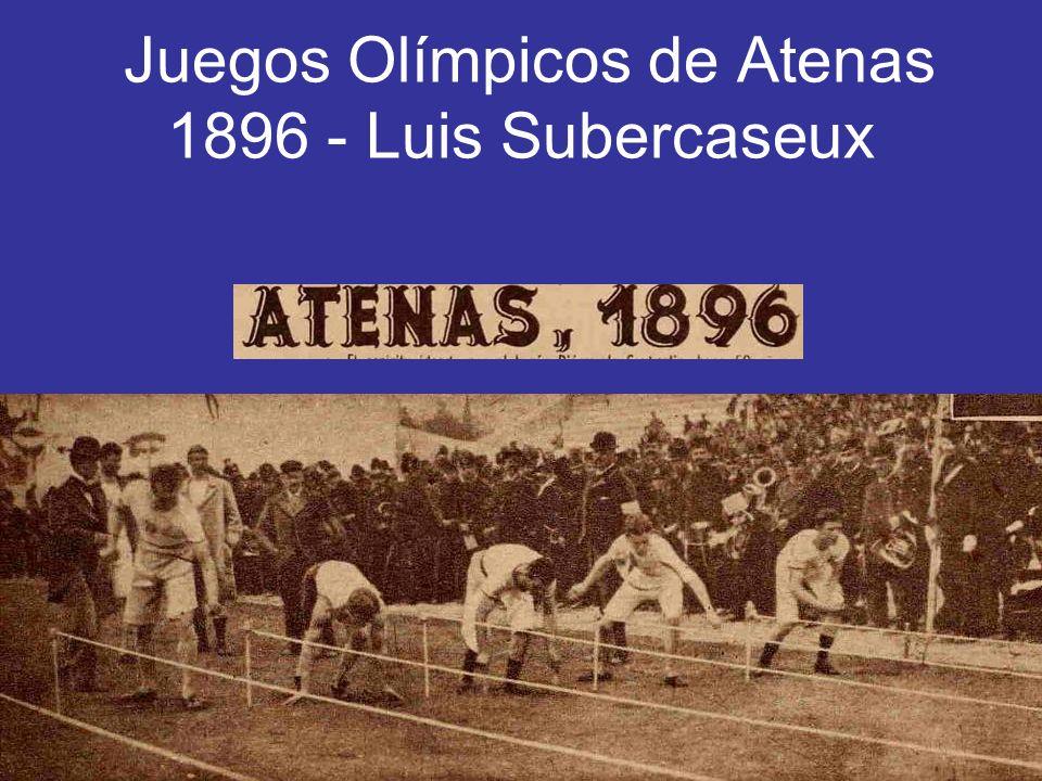 Juegos Olímpicos de Atenas 1896 - Luis Subercaseux