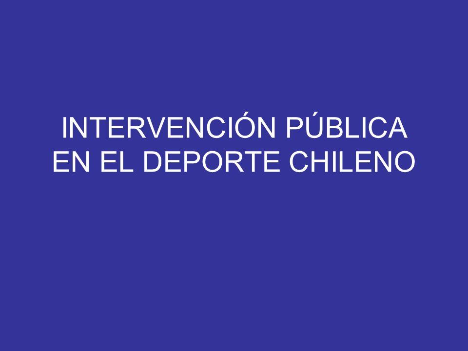 INTERVENCIÓN PÚBLICA EN EL DEPORTE CHILENO