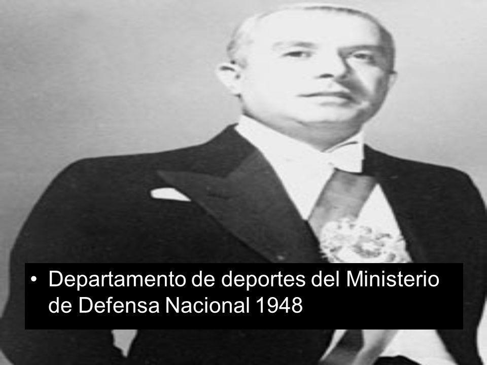 Departamento de deportes del Ministerio de Defensa Nacional 1948