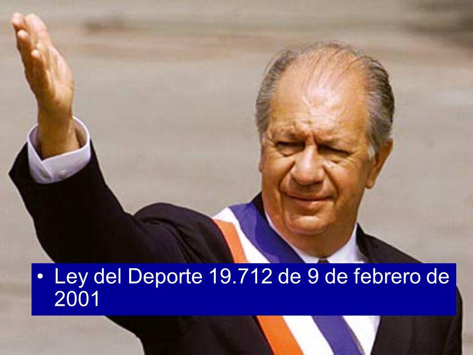 Ley del Deporte 19.712 de 9 de febrero de 2001