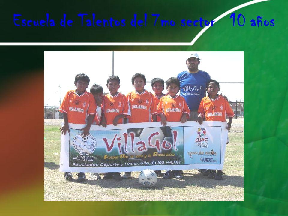 Escuela de Talentos del 7mo sector 10 años