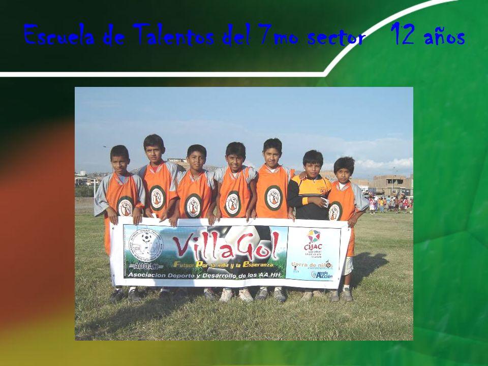 Escuela de Talentos del 7mo sector 12 años