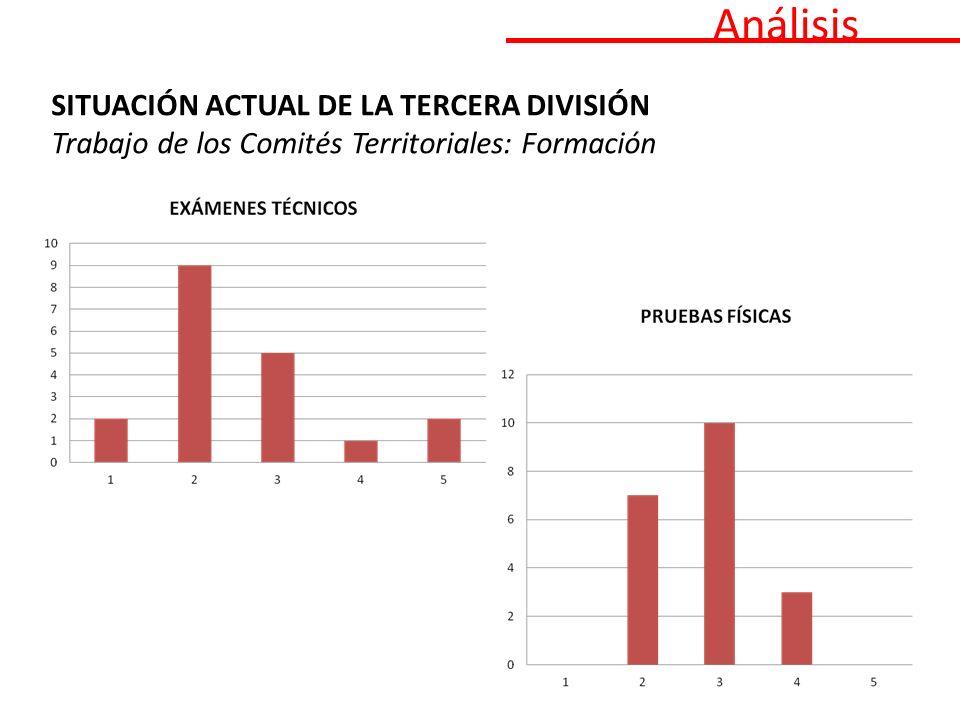 Análisis SITUACIÓN ACTUAL DE LA TERCERA DIVISIÓN Trabajo de los Comités Territoriales: Formación