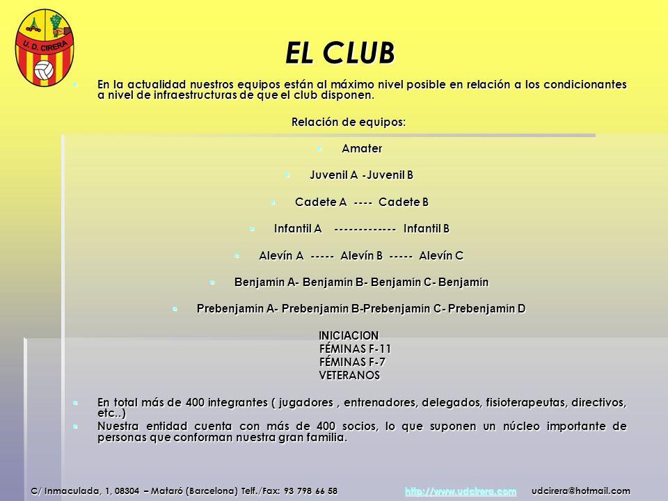 FOTOGRAFIAS TEMPORADA 07/08 1º Equipo Juvenil Cadete ACadete B C/ Inmaculada, 1, 08304 – Mataró (Barcelona) Telf./Fax: 93 798 66 58 http://www.udcirera.com udcirera@hotmail.com http://www.udcirera.com