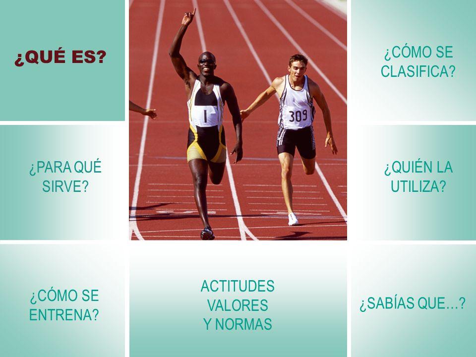 ACTITUDES VALORES Y NORMAS Antes de un entrenamiento de velocidad, es muy importante hacer un calentamiento específico para trabajar la musculatura que se va a utilizar No todos tenemos la misma velocidad.
