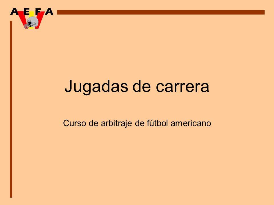 Jugadas de carrera Curso de arbitraje de fútbol americano