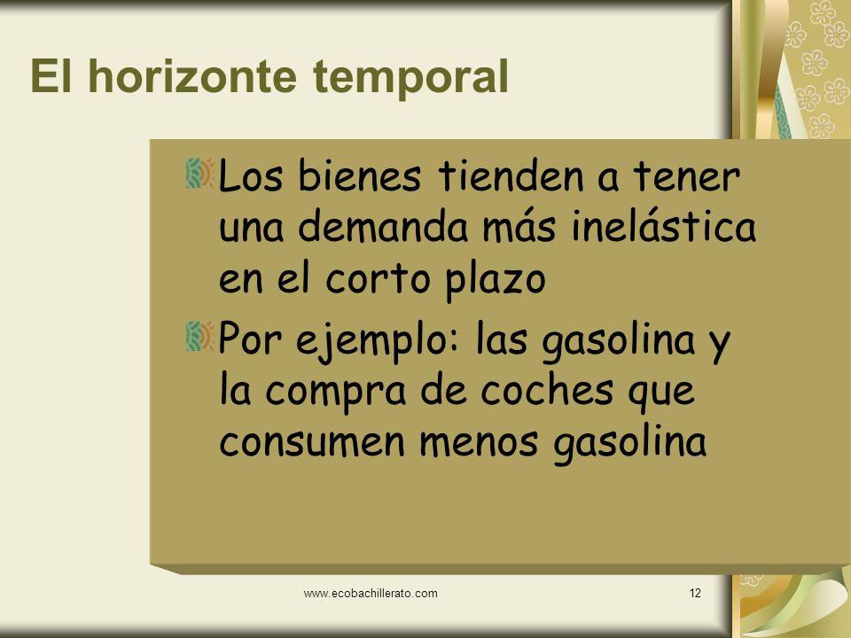 www.ecobachillerato.com11 Definición de mercado Alimentos vs Productos elaborados Productos elaborados vs servicios Helados vs gelatinas Helados vs pa