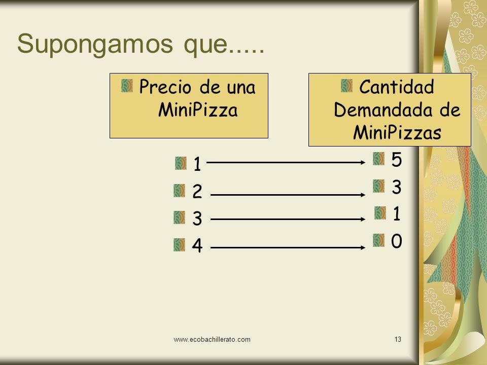 www.ecobachillerato.com12 El horizonte temporal Los bienes tienden a tener una demanda más inelástica en el corto plazo Por ejemplo: las gasolina y la