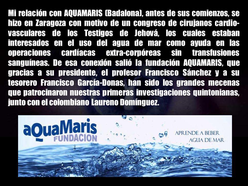Héctor fue el único científico-académico que entendió que en la SOPA MARINA DEL AGUA DE MAR había mucho más que agua con sal (NaCl). Motivo por el cua
