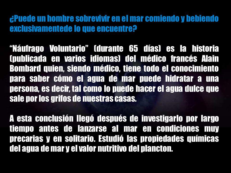 LA ODISEA DE UN NÁUFRAGO VOLUNTARIO ALAIN BOMBARD