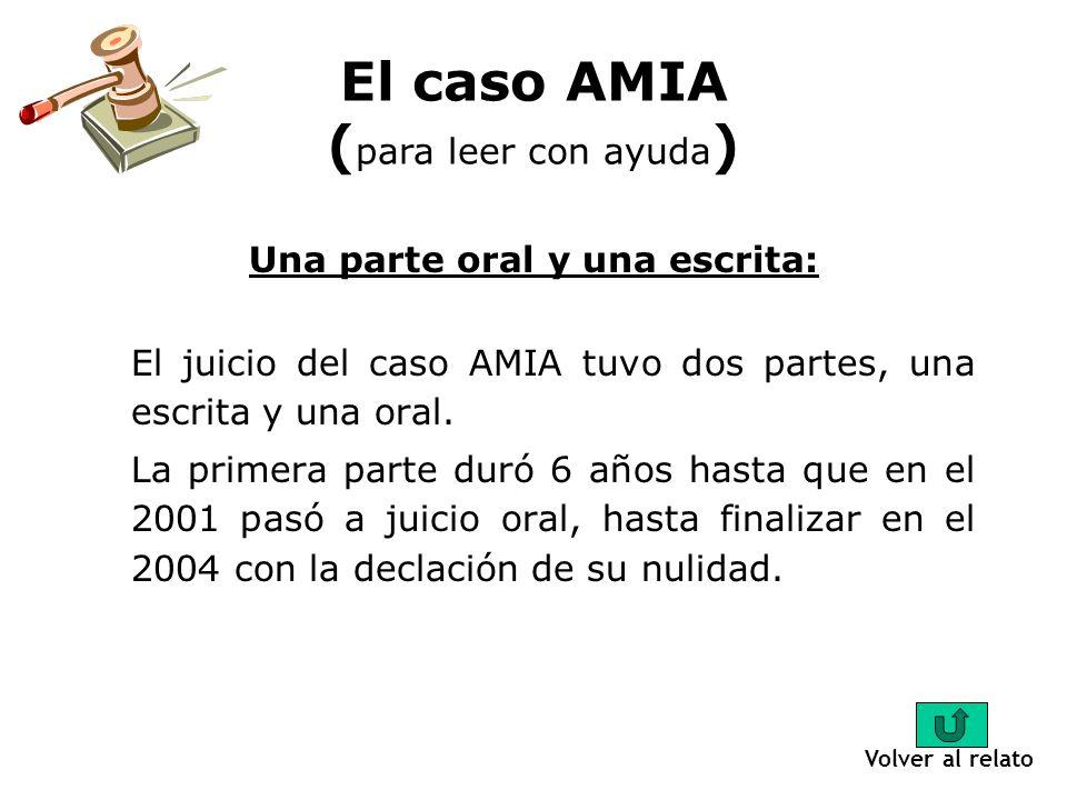 Los escritos del juicio: El caso AMIA está conformado por 500 cuerpos de aproximadamente 200 fojas cada uno, eso es más de 100.000 fojas (documentos, hojas).