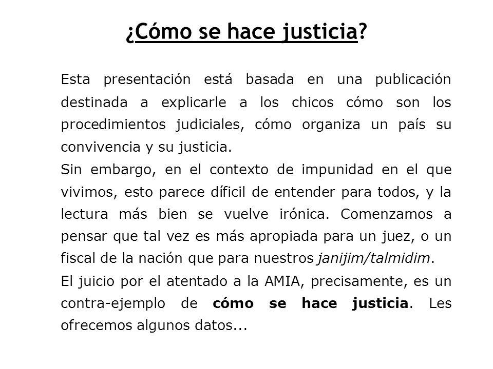 ¿Cómo se hace justicia? Basado en el fascículo N°13 de Entender y Participar. [¿Cómo se hace justicia?, Graciela Montes] Editado por Página/12 y Libro