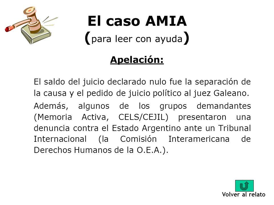 Una parte oral y una escrita: El juicio del caso AMIA tuvo dos partes, una escrita y una oral. La primera parte duró 6 años hasta que en el 2001 pasó