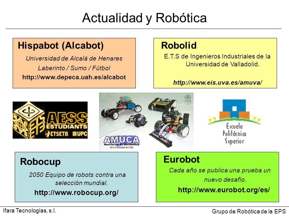 Robocup 2050 Equipo de robots contra una selección mundial. http://www.robocup.org/ Actualidad y Robótica Eurobot Cada año se publica una prueba un nu