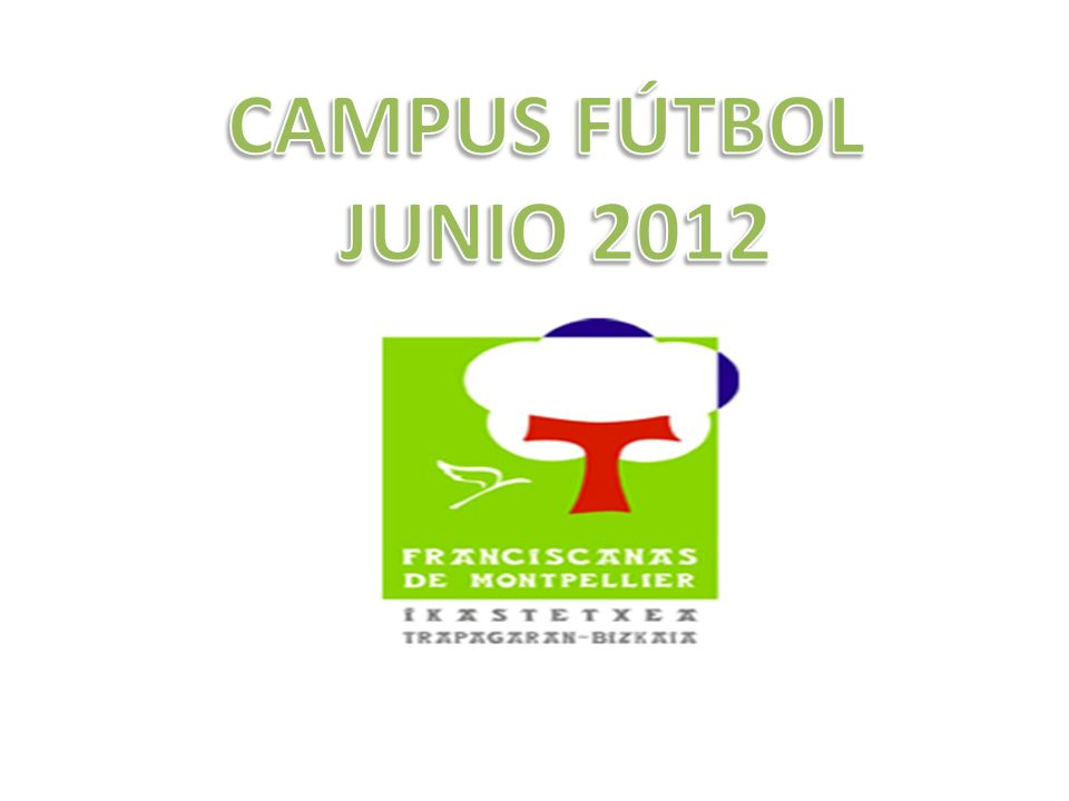 1.ORGANIZACIÓN Por primera vez nuestro Colegio organiza para LA ÚLTIMA SEMANA DE JUNIO DEL 2012 UN CAMPUS DE FÚTBOL en Las Cármenes Barria de LA ARBOLEDA.