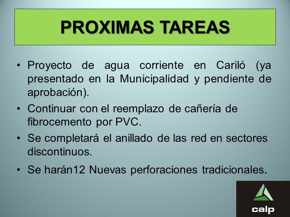 10 PROXIMAS TAREAS Proyecto de agua corriente en Cariló (ya presentado en la Municipalidad y pendiente de aprobación). Continuar con el reemplazo de c