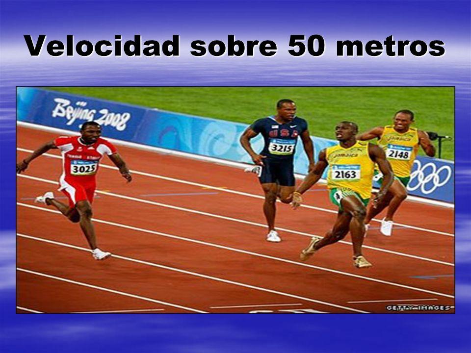 Velocidad sobre 50 metros