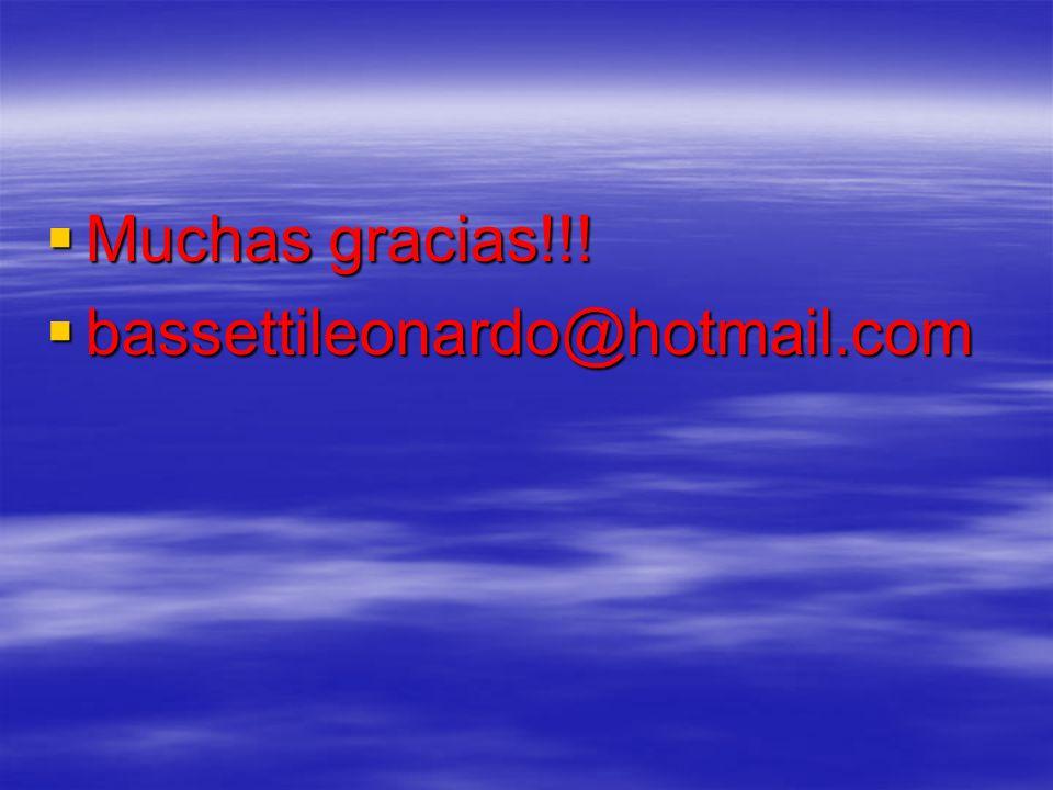 Muchas gracias!!! Muchas gracias!!! bassettileonardo@hotmail.com bassettileonardo@hotmail.com