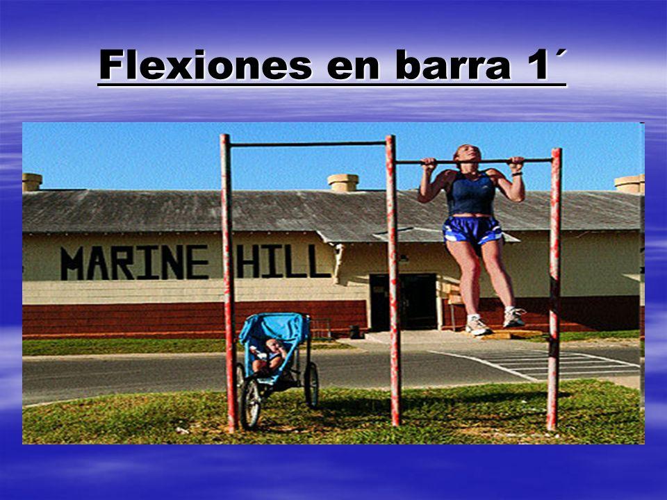 Flexiones en barra 1´
