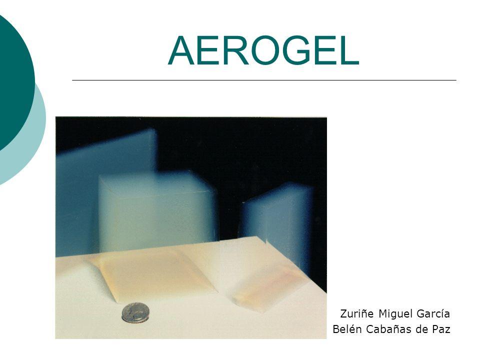 AEROGEL Zuriñe Miguel García Belén Cabañas de Paz